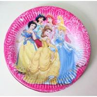 Парти чинийка с диаметър 23 см модел 53505 с Принцеси