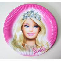 Парти чинийка с диаметър 23 см модел 53506 с Барби
