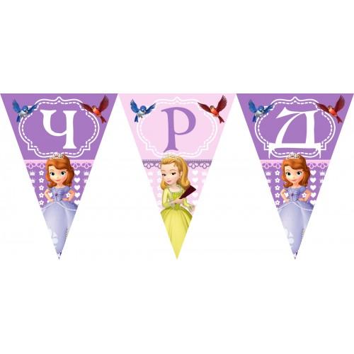Персонален банер Честит Рожден Ден модел 50011 с принцеса София