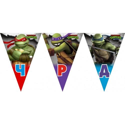Персонален банер Честит Рожден Ден модел 50015 с костенурките Нинджа