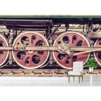 Фототапет колела на Локомотив цифров печат максимален размер 200х300см модел 28035