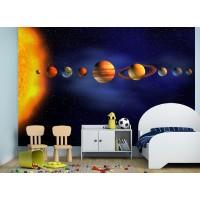 Фототапет планети Слънчева система цифров печат флис основа максимален размер 260х400см модел 28364