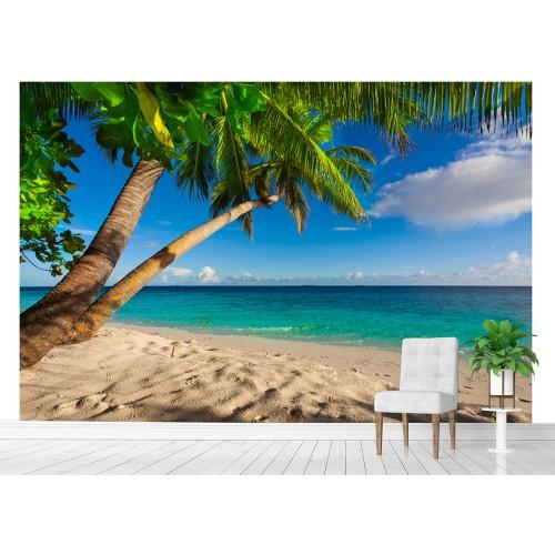 Фототапет плаж палми море цифров печат максимален размер 260х400см модел 28037