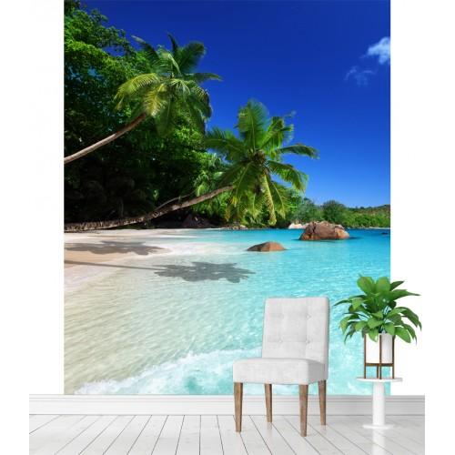 Фототапет плаж море палми надвиснали над морето цифров печат максимален размер 200х250см модел 28073
