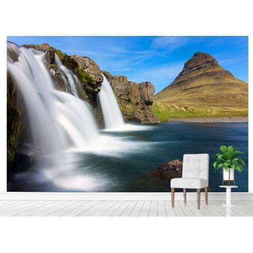 Фототапет водопад и скали цифров печат максимален размер 200х300см модел 28176