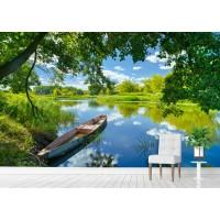 Фототапет езеро лодка цифров печат флис основа максимален размер 260х400см модел 28325