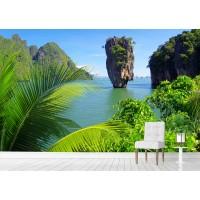 Фототапет остров палми цифров печат флис основа максимален размер 260х400см модел 28398