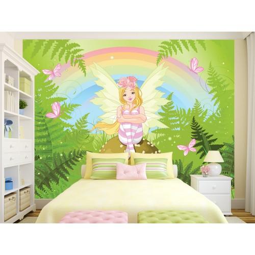 Фототапет за детска стая Фея и Пеперудки цифров печат максимален размер 250х300см модел 28001