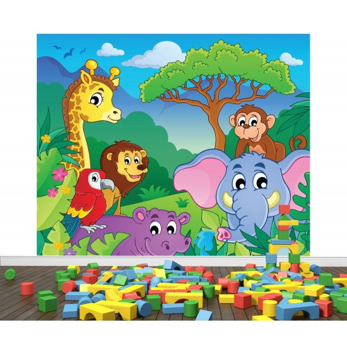 Фототапет за детска стая Животните на АФРИКА цифров печат максимален размер 250х300см модел 28002