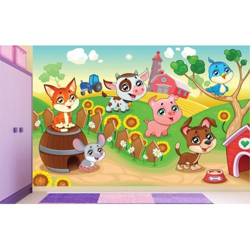 Фототапет за детска стая Ферма цифров печат максимален размер 260х400см модел 28004
