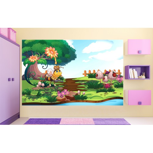 Фототапет за детска стая работлива Пчеличка цифров печат максимален размер 260х400см модел 28014
