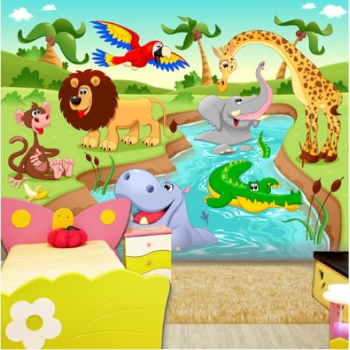 Фототапет за детска стая животните на АФРИКА цифров печат максимален размер 260х400см модел 28018