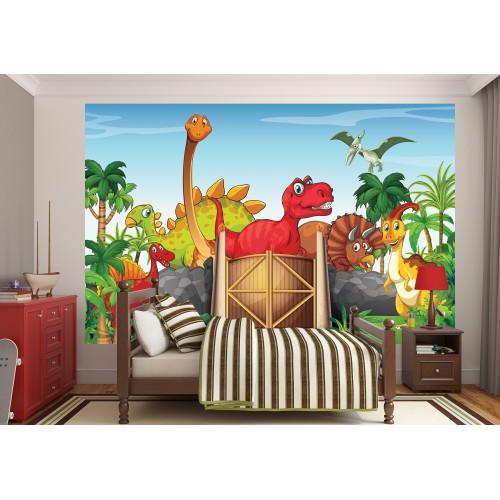 Фототапет за детска стая  Дино парк модел 28023