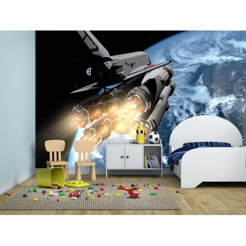 Фототапет за детска стая совалка цифров печат максимален размер 260х400см модел 28024