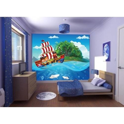 Фототапет за детска стая Пирати цифров печат максимален размер 250х300см модел 28032