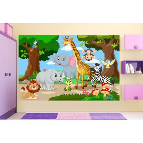 Фототапет за детска стая животните на АФРИКА цифров печат максимален размер 260х400см модел 28041