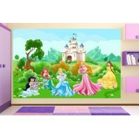 Фототапет за детска стая с Принцеси  цифров печат максимален размер 200х300см модел 28051