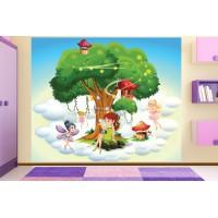 Фототапет за детска стая дървото на Феите  цифров печат максимален размер 250х300см модел 28059