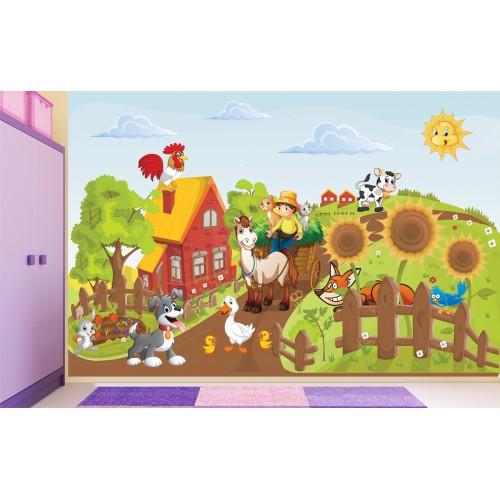 Фототапет за детска стая Ферма цифров печат максимален размер 260х400см модел 28108