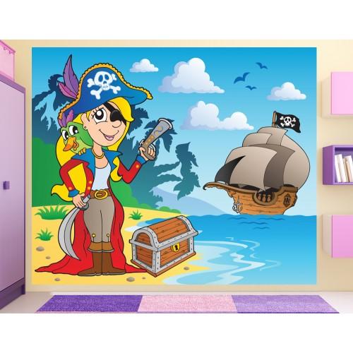 Фототапет пиратски кораб съкровище цифров печат максимален размер 250х300см модел 28119