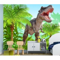 Фототапет динозавър РЕКС цифров печат максимален размер 250х300см модел 28143