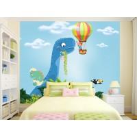 Фототапет Дино в облаците и балон цифров печат максимален размер 250х300см модел 28146