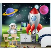 Фототапет космонавт ракета цифров печат флис основа максимален размер 250х300см модел 28375