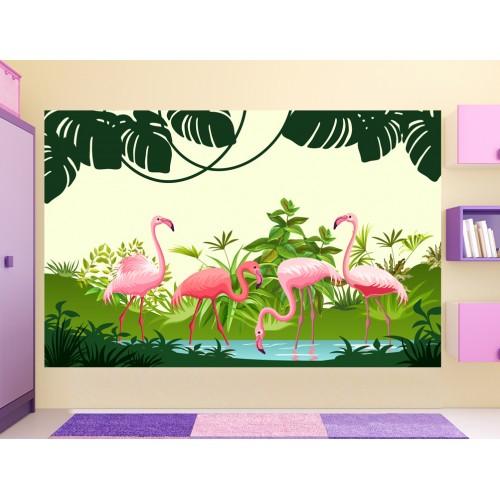 Фототапет за детска стая Фламинго цифров печат максимален размер 260х400см модел 28399