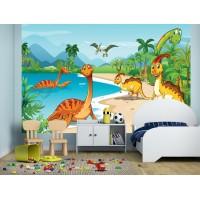 Фототапет за детска стая Езерото на Дино цифров печат максимален размер 260х400см модел 28598