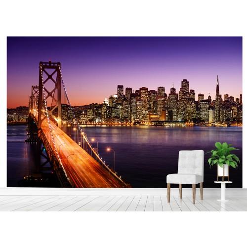 Фототапет град небостъргачи мост цифров печат максимален размер 260х400см модел 28040