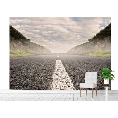 Фототапет път асфалт мъгла цифров печат максимален размер 250х300см модел 28090