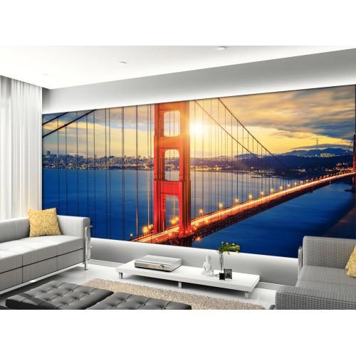 Фототапет метален червен мост цифров печат максимален размер 260х400см модел 28093