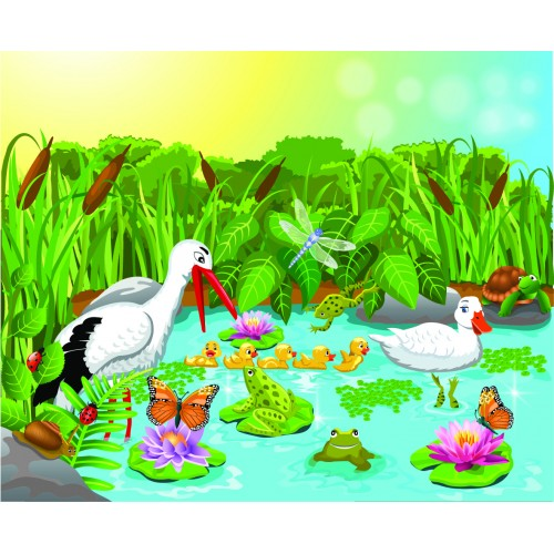 Фототапет модел 28017 животните на езерото