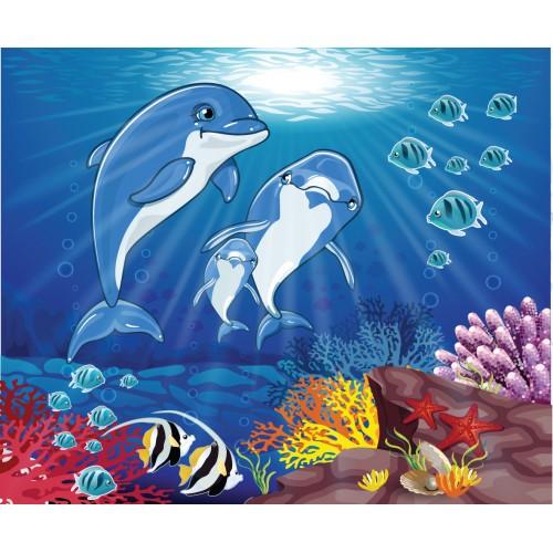 Фототапет модел 28031 подводен свят с делфини