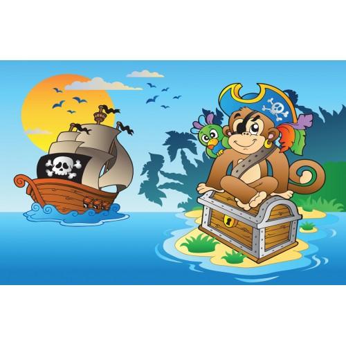 Фототапет модел 28118 маймунка пират