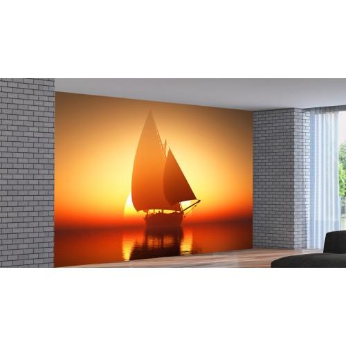 Фототапет модел 28406 море яхта залез