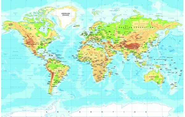 Фототапет модел 28501 карта на света