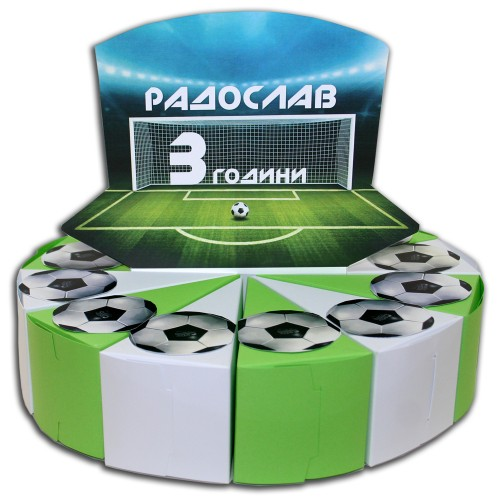 Украса Поздрав за Хартиена торта Модел 30159 Футбол