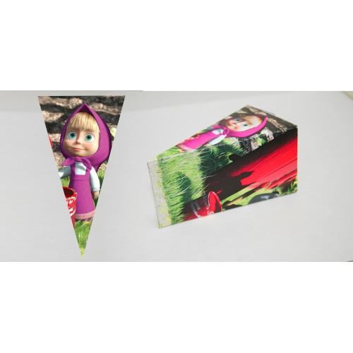 Парченце от Хартиена  торта с украса Маша и Мечока по избор Модел 30212