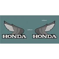Стикер HONDA лого сребърно и черно със защитно фолио модел 22007