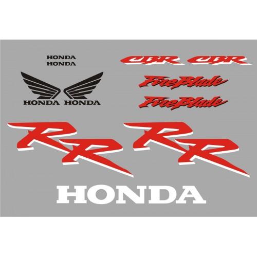 Стикери за HONDA CBR 954 RR Fireblade 02-2003 г. модел 22159