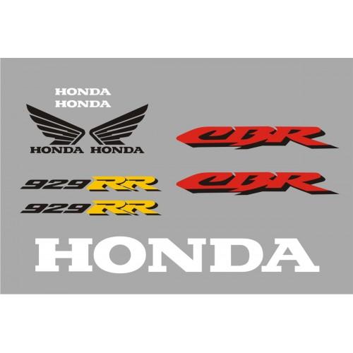 Стикери за HONDA CBR 929 RR Fireblade 2001 г. модел 22162