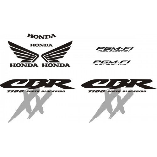 Стикери за HONDA CBR 1100 Super Blackbird 00-2004 г. модел 22192