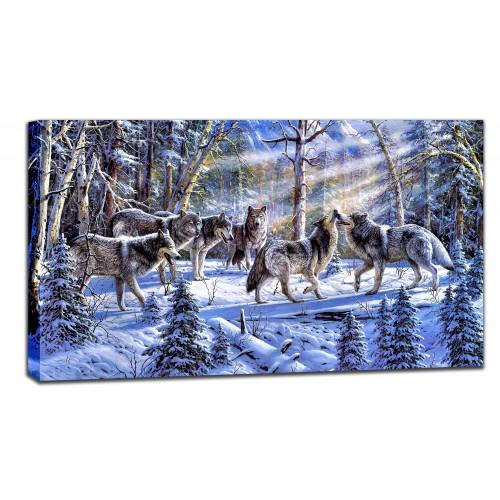Картина от канава Модел 14011 вълци
