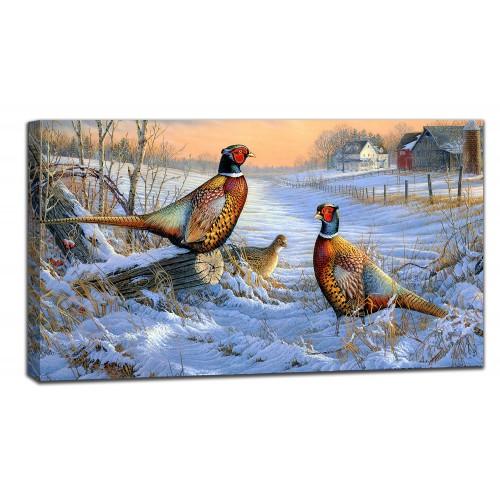 Картина от канава Модел 14012 фазани