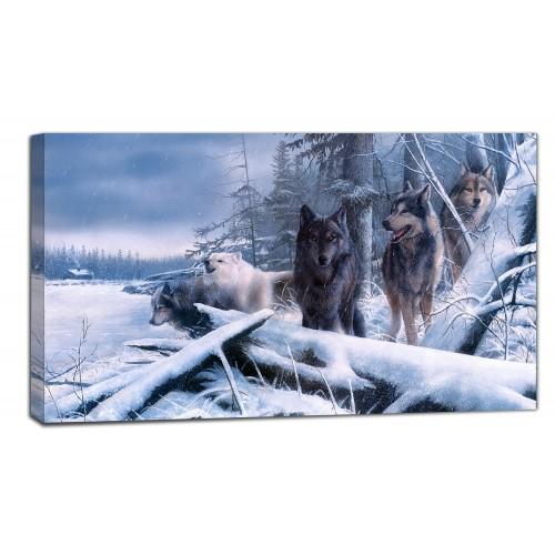 Картина от канава Модел 14014 вълци