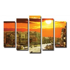 Декоративни панели 5 части или картини от канава Модел 13 003 Венеция