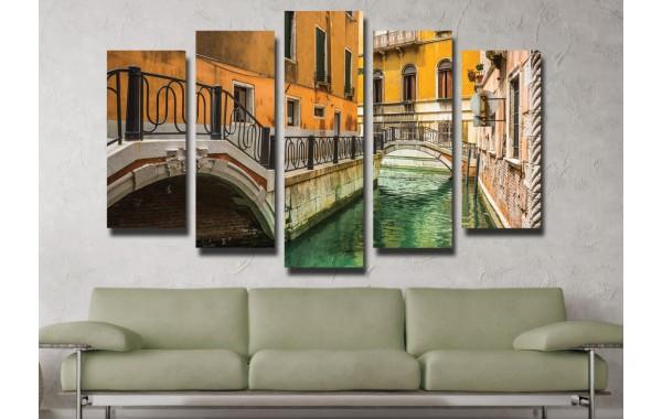 Декоративни панели 5 части или картини от канава Модел 13 010 Венеция