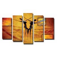 Декоративни панели 5 части или картини от канава Модел 13 011 танцуващи негърки