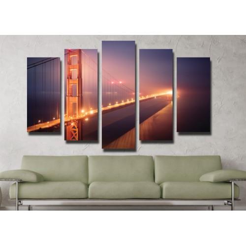 Декоративни панели и картини от канава Модел 13 020 Мост пет части